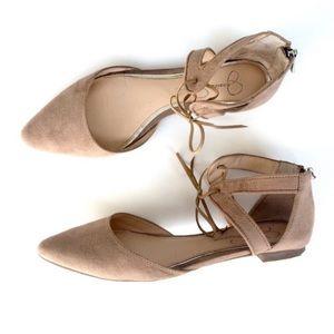 Jessica Simpson Zuni Pointed Toe Flats 7.5